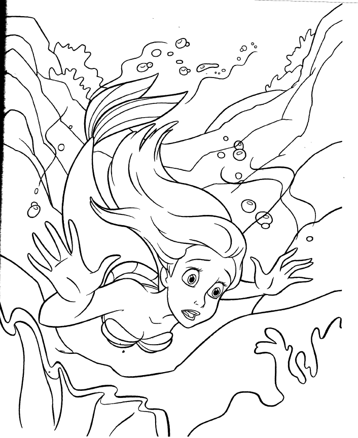 Ariels beginning coloring pages