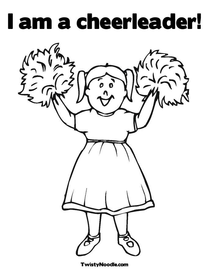 barbie cheerleading coloring pages - photo#1