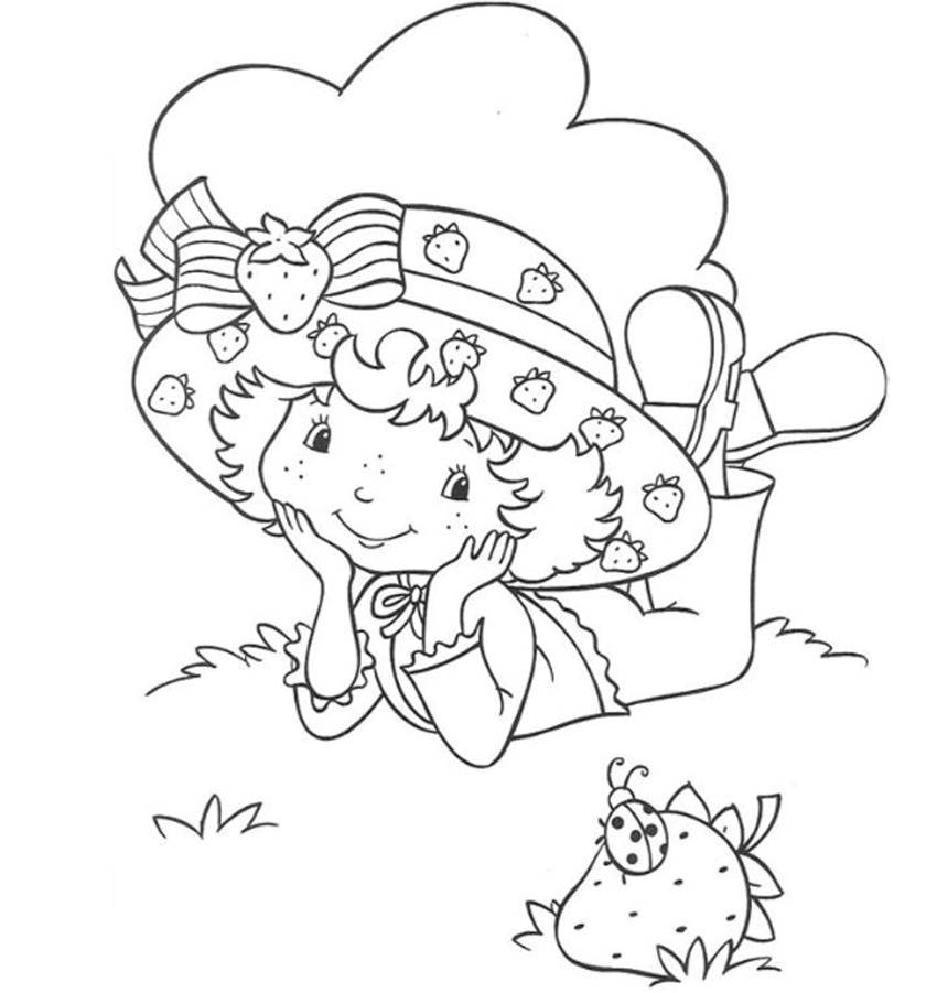 strawberry shortcake characters coloring pages - photo#30