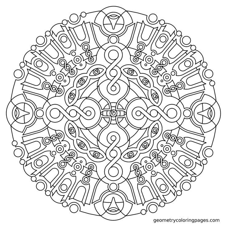 coloring pages for adults geometric - photo#33