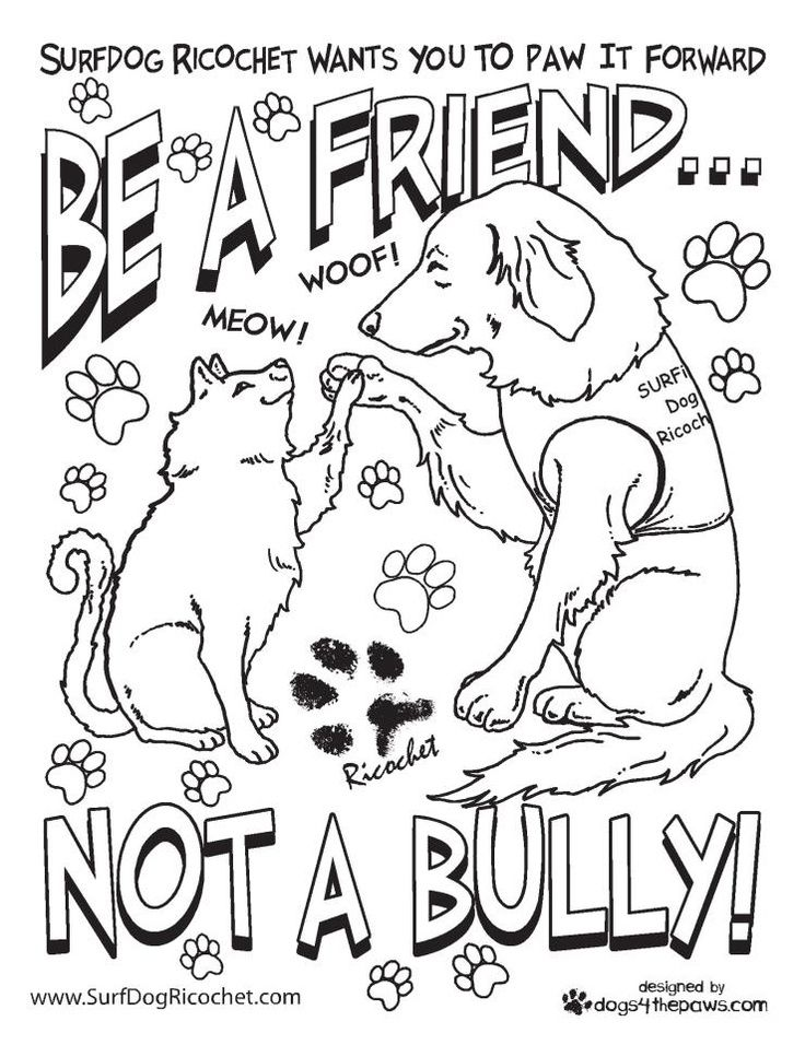 stop bullying coloring pages coloring home