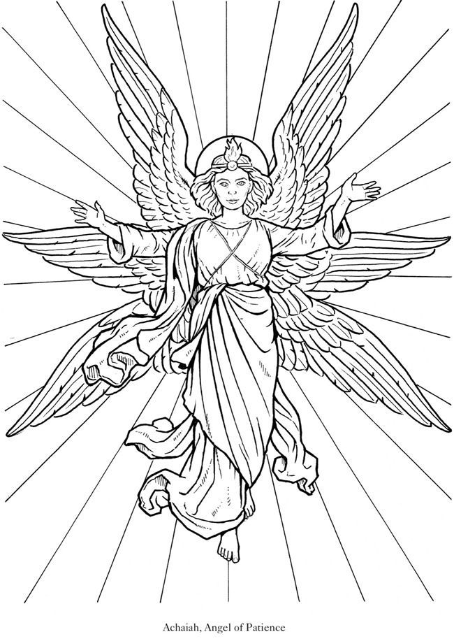 coloring book pages of angels - photo#19