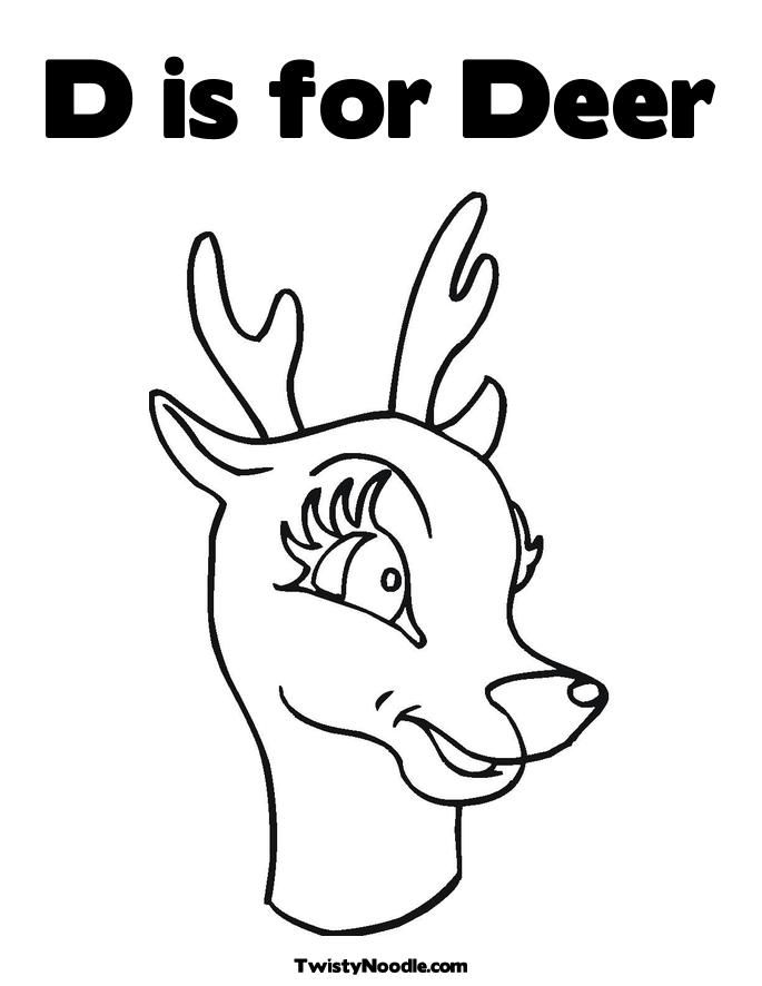 Deer Head Coloring Page Mask TruckTough