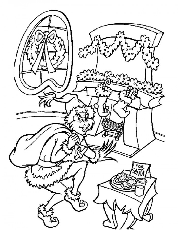 Grinch stole christmas coloring pages az coloring pages for How the grinch stole christmas coloring pages