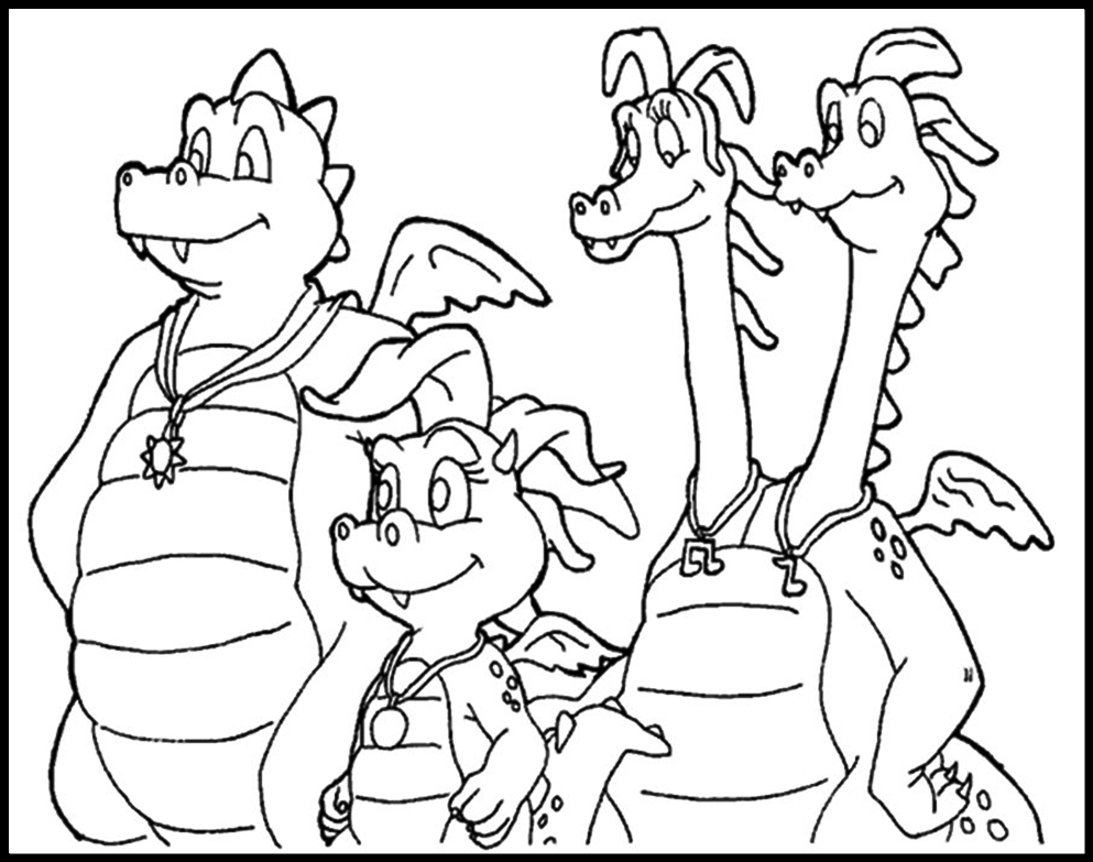 dragontails coloring pages - photo#6
