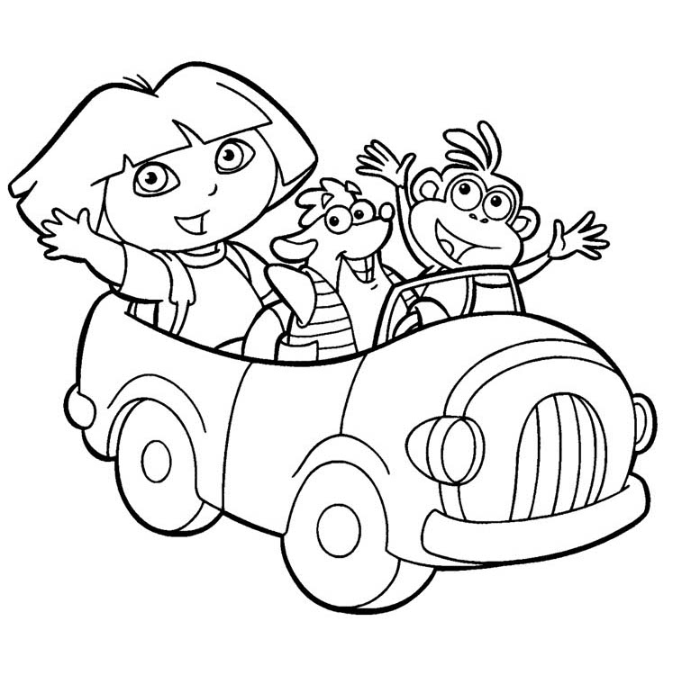 Dora the explorer coloring pages to print az coloring pages for Dora the explorer coloring pages to print