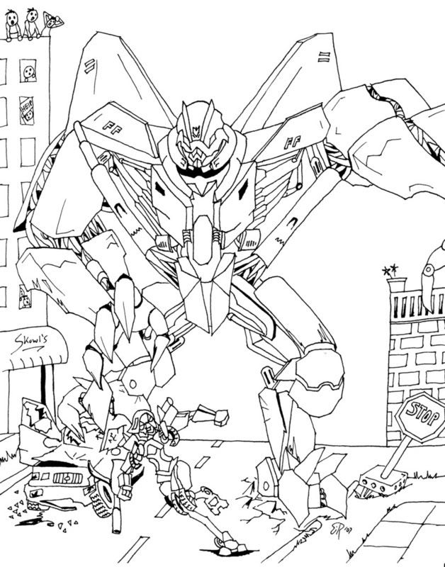 Pin starscream colouring pages on pinterest for Transformers coloring pages starscream