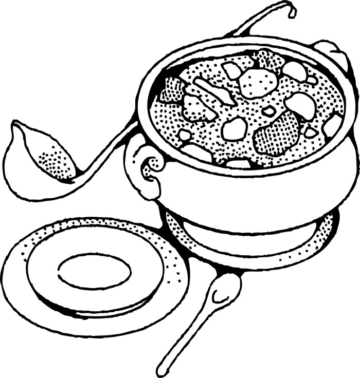Free Coloring Pages Of Soup Bowl Soup Coloring Pages