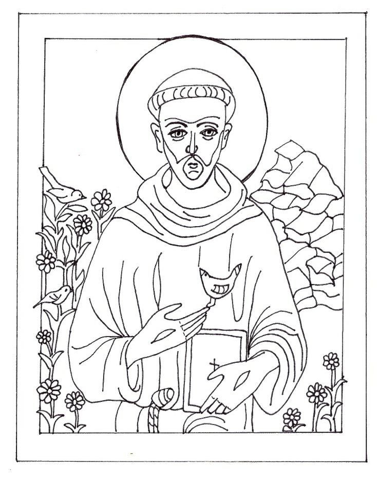 St Francis Coloring Page  Coloring Home