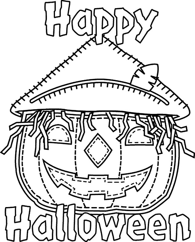 Halloween Coloring Pages Free Printable Download
