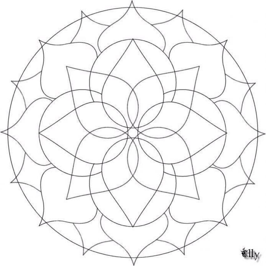 Mandala Images  Coloring Home