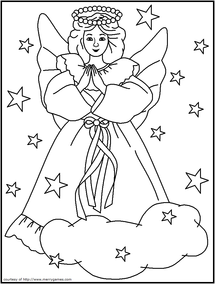 Free Religious Christmas Coloring Pages