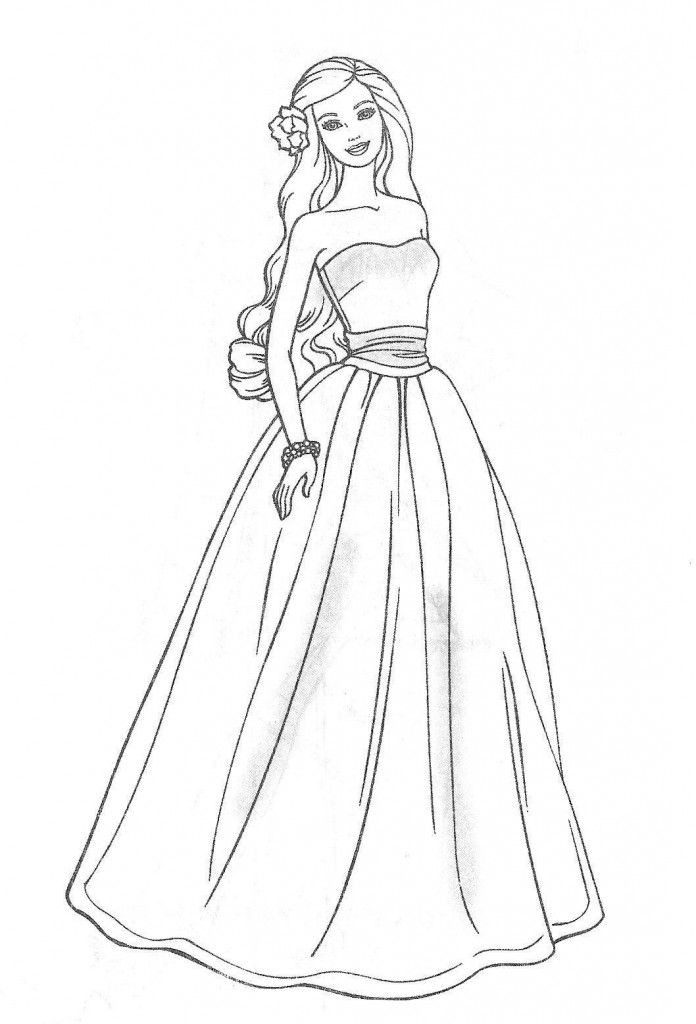 Download Barbie Coloring Pages 696x1024 (2141) Full Size | Disney