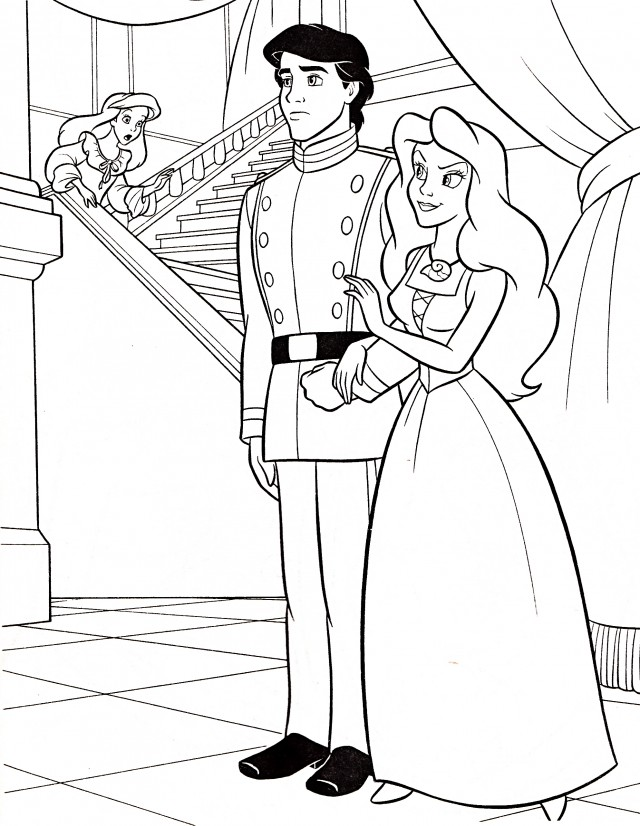 Ariel And Eric Coloring Pages Ariel And Eric Coloring Pages Free