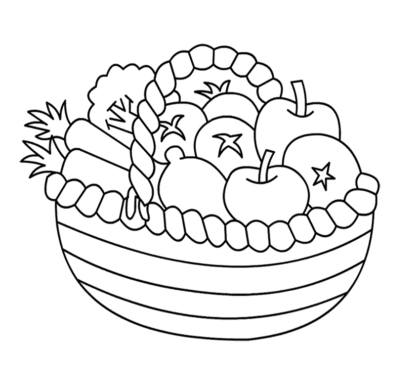Printable Fruit Coloring Pages - AZ Coloring Pages