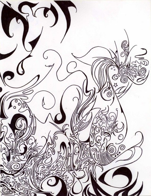Trippy Printable Coloring Pages - Coloring Home