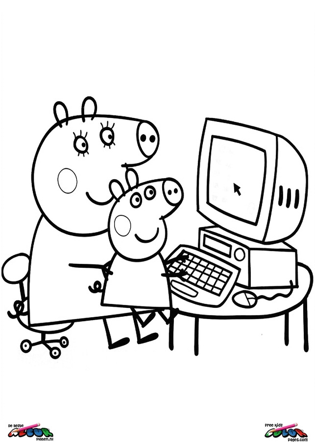 Online Colouring Pages Peppa Pig : How to draw peppa pig az coloring pages