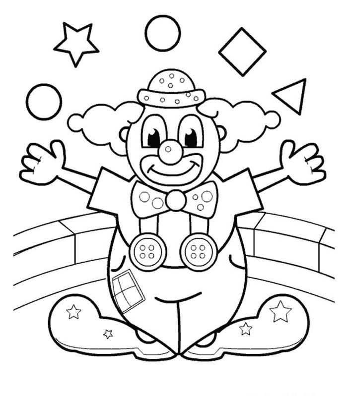 Coloring pictures of clowns coloring home for Disegno pagliaccio da colorare
