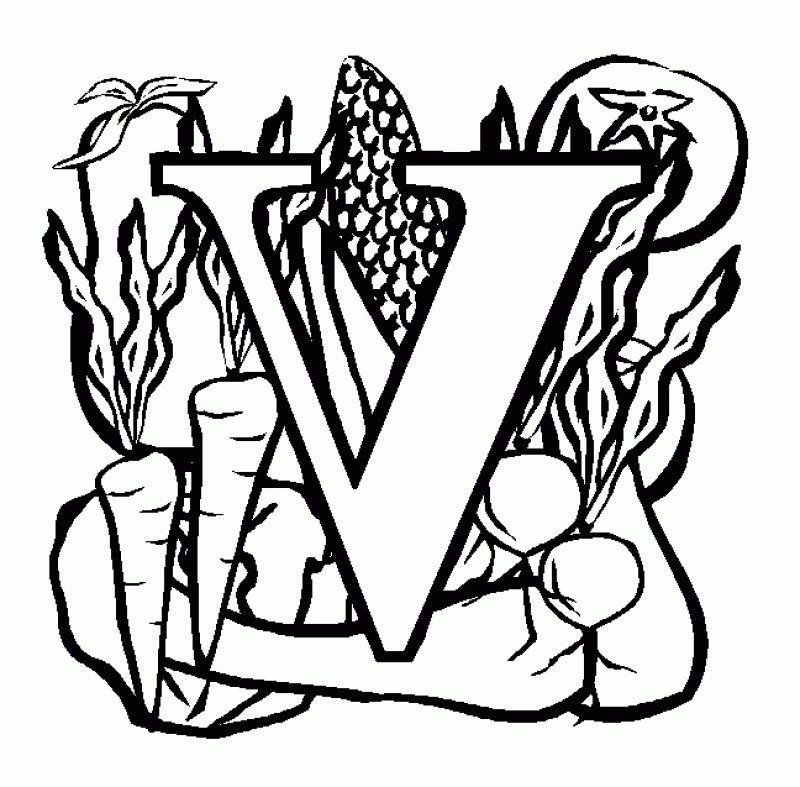 Interesting Letter V Coloring Pages Kids Colouring Pages