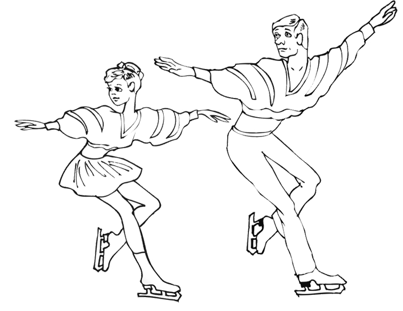 children ice skating coloring pages - photo#31