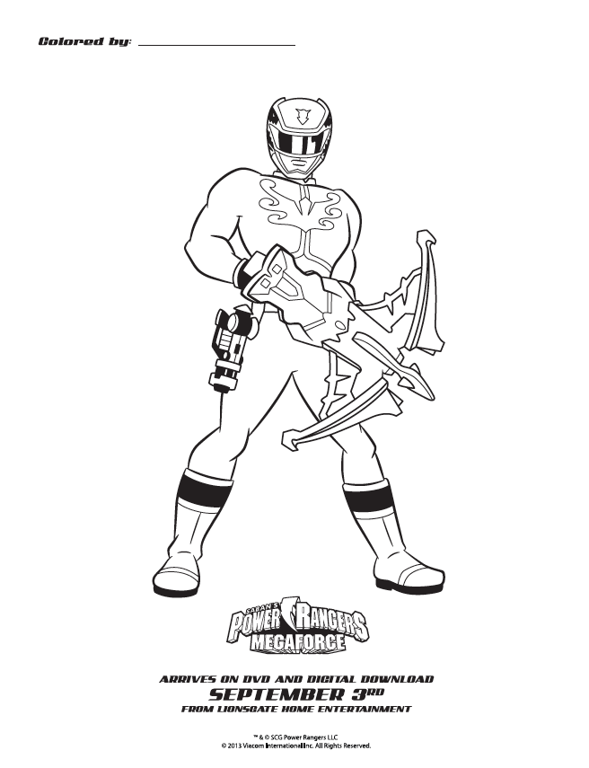 Power Rangers Coloring Pages Pdf : Power ranger battles colouring pages coloring home
