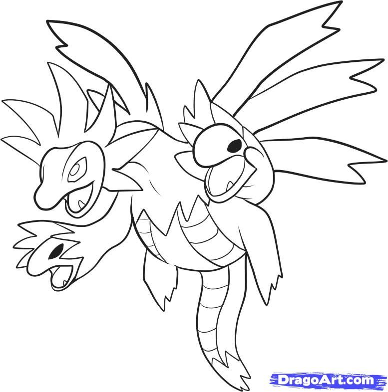 How To Draw Hydreigon, Draw Sazandora, Step By Step ...