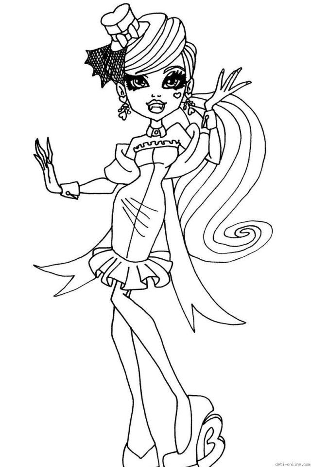 Monster High Dracula Doll Coloring Pages Download Free Printable Coloring Home