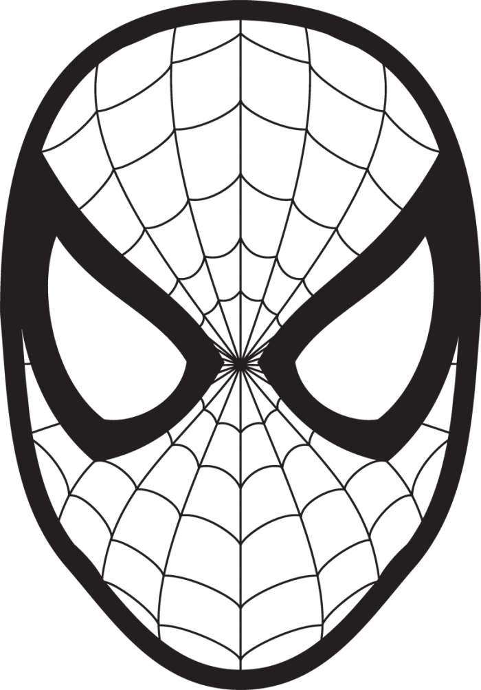 Spider Drawing For Kids Coloring