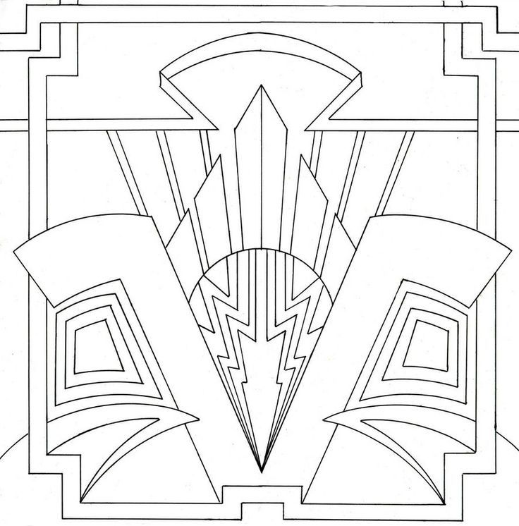 Art Deco Coloring Pages Coloring Home Coloring Pages Deco