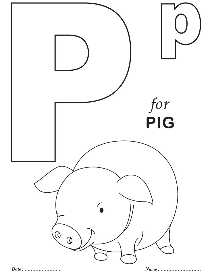 alphabet coloring pages for preschool - photo#8