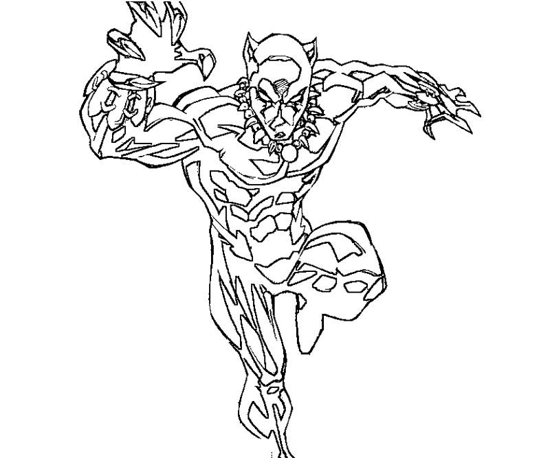 Black Panther Coloring Page Coloring