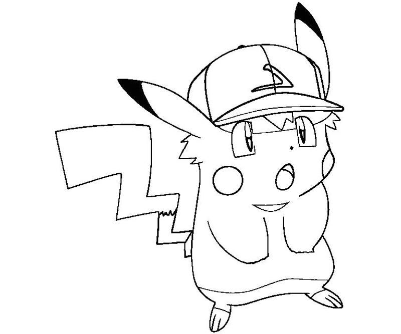 Pikachu 3 Coloring | Crafty Teenager - Coloring Home