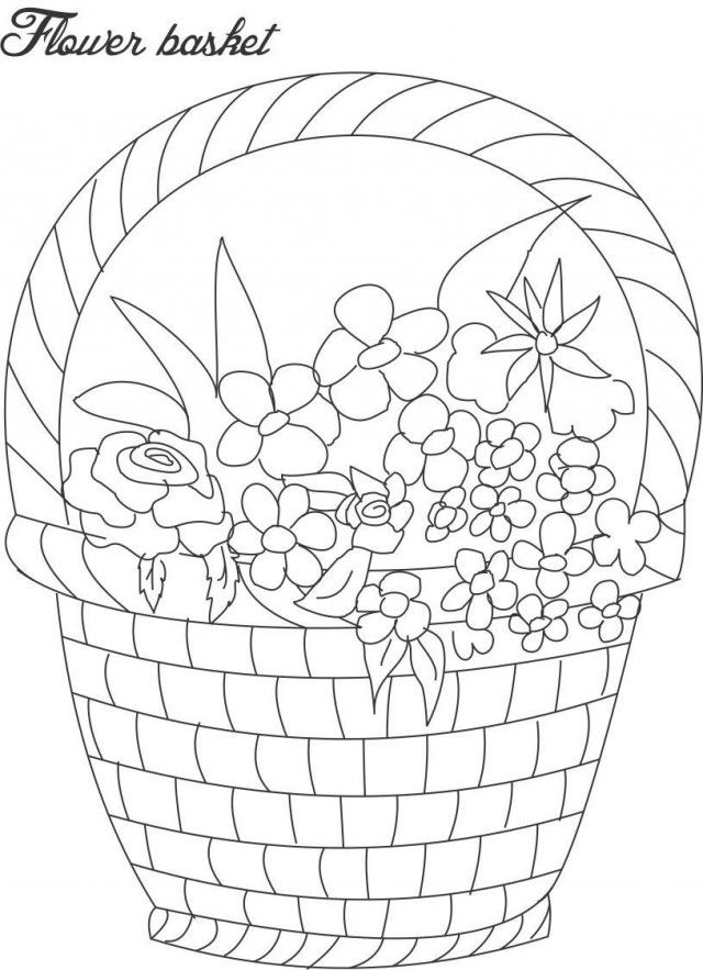 flower pot coloring printable page for kids 9 decorative flower