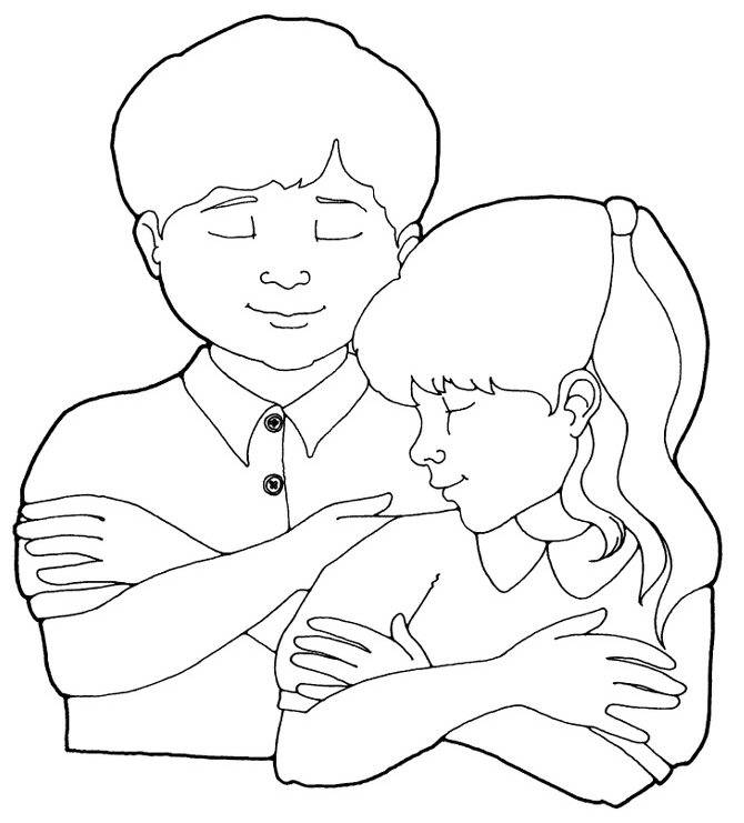 Lds Boy Praying Coloring Page Images & Pictures - Becuo