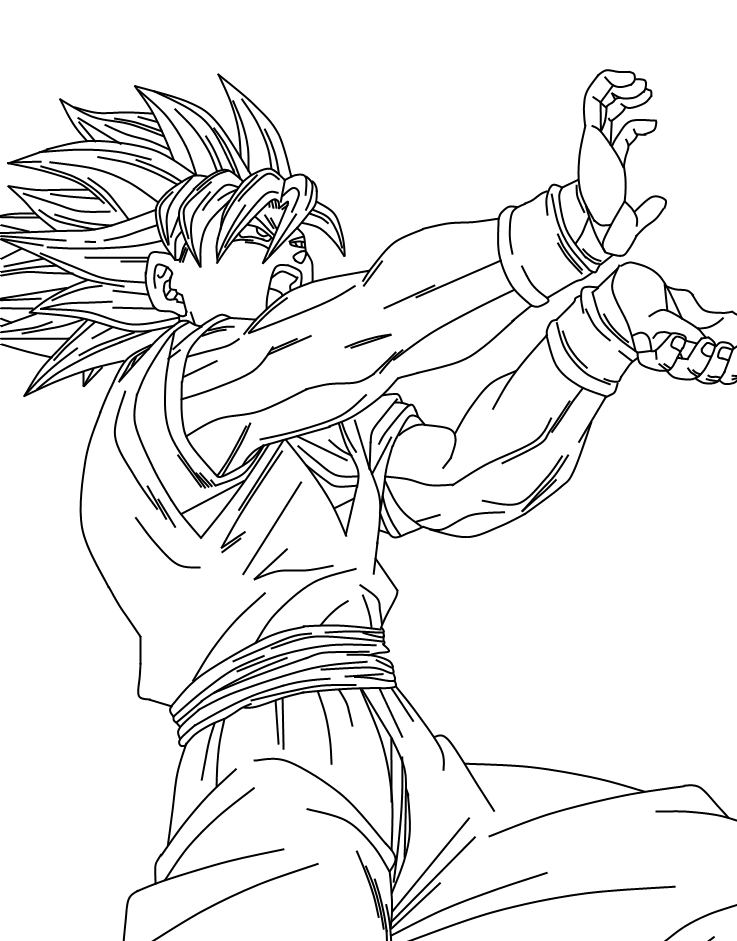 Goku Super Saiyan 5 Coloring Pages - Coloring Home