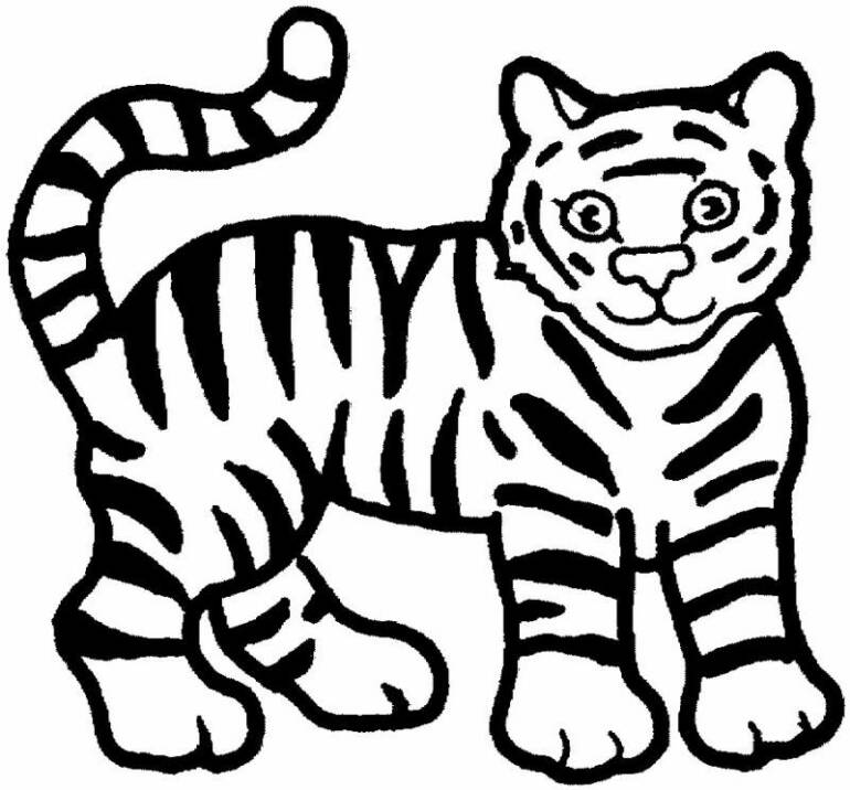 Cute tiger coloring pages coloring home for Coloring page tiger