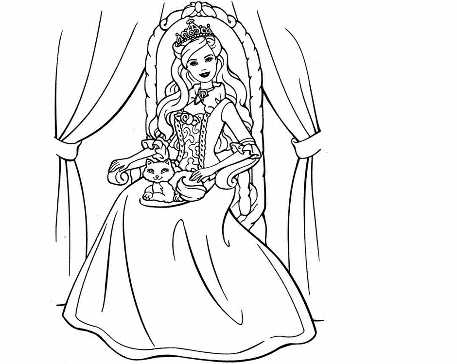 Colours Drawing Wallpaper Beautiful Barbie Princes Princess Pictures To Draw Printable
