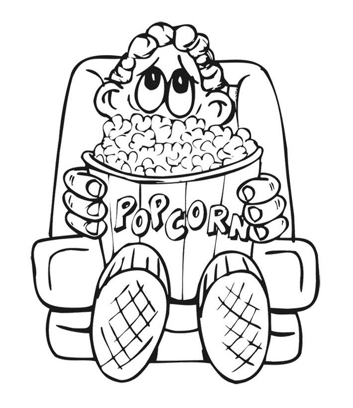 Popcorn Coloring Sheet AZ Coloring