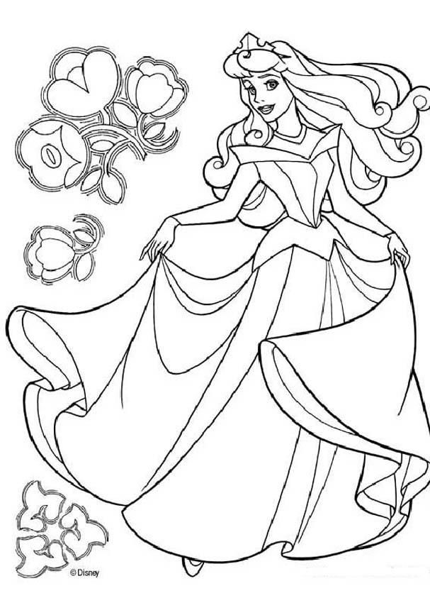 belle Colouring Pages (page 2)
