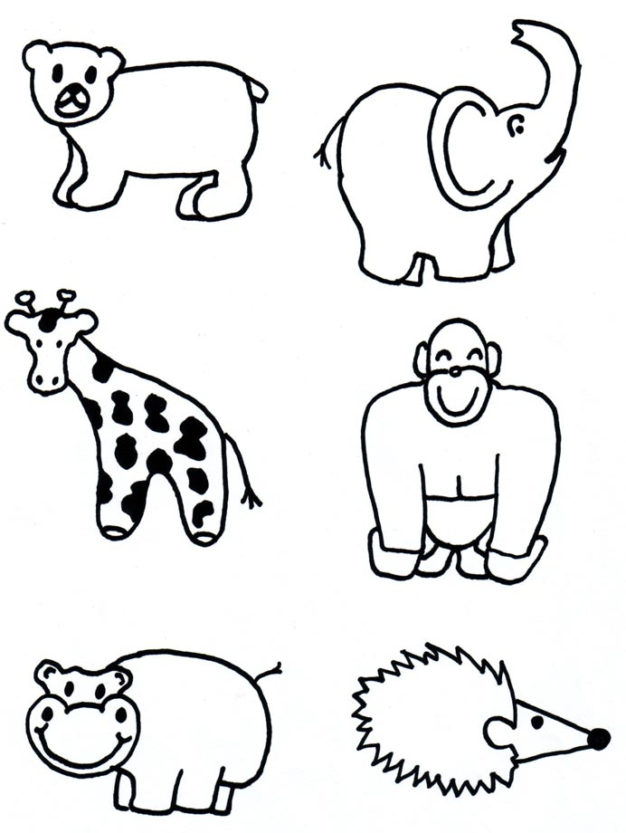 Animal Shapes To Cut Out AZ Coloring Pages