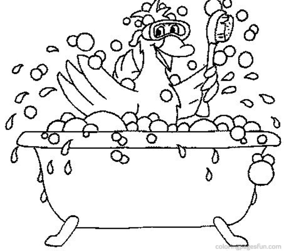 coloring pages of a bath - photo#18