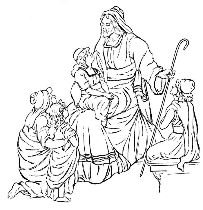 bible coloring pages for kids - 700×724