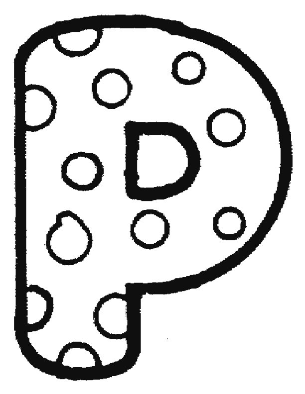 d bubble letter coloring pages - photo #23