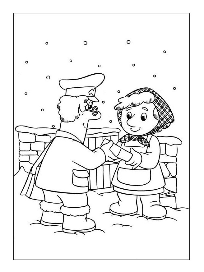 Postman pictures az coloring pages for Mailman coloring pages