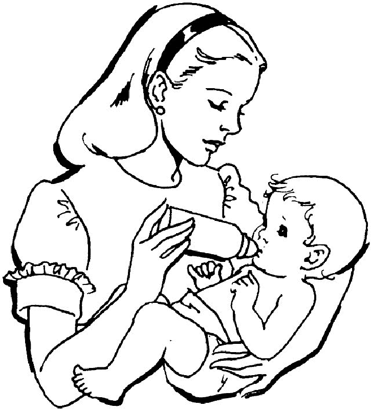 online baby coloring pages - photo#13