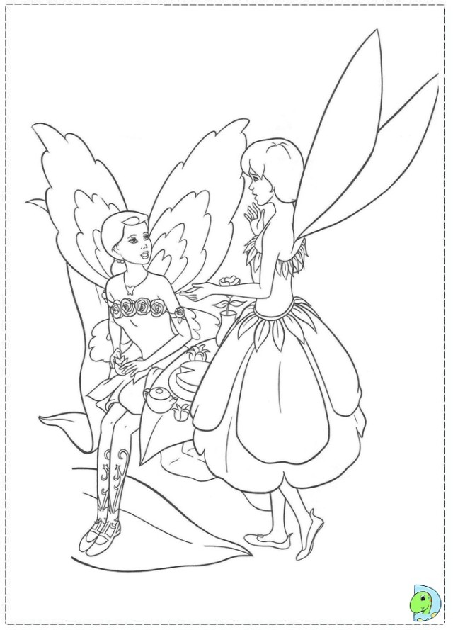 Cute Barbie Fairytopia movie Coloring page sheets for kids