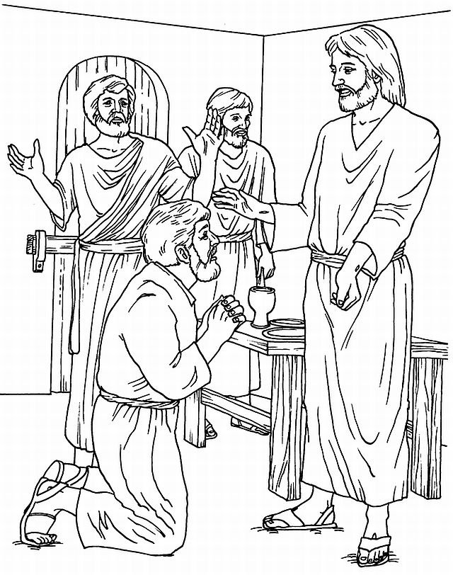 jesus forgiveness coloring pages - photo#15