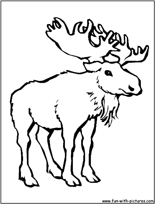 Cartoon moose coloring pages coloring home for Coloring pages moose