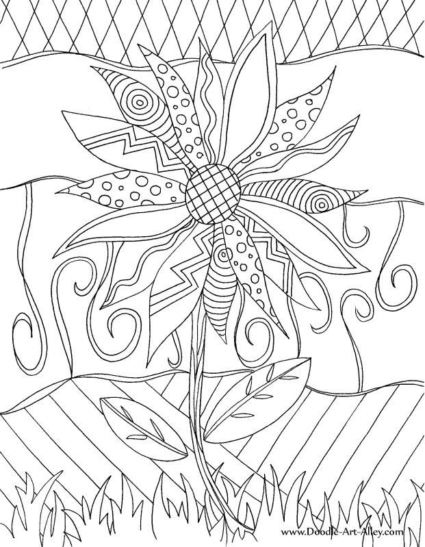 Lets Doodle Coloring Pages