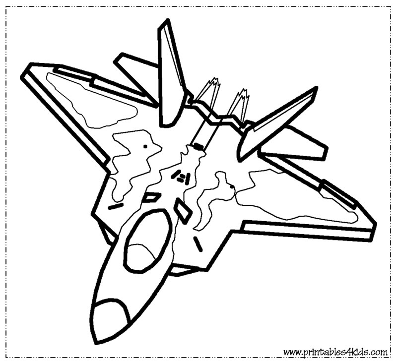 Airplane coloring pages for kids az coloring pages for Airplane coloring pages to print for free
